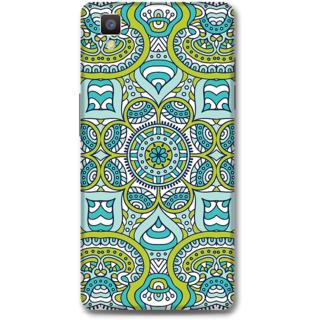 Oppo F1 Designer Hard-Plastic Phone Cover From Print Opera -Graphic Blue Green Print