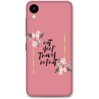 HTC 825 Designer Hard-Plastic Phone Cover From Print Opera -Eat Sleep Travel Repeat