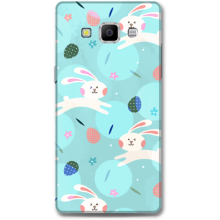 Samsung Galaxy A7 2015 Designer Hard-Plastic Phone Cover From Print Opera - Floral Rabbit