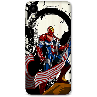 HTC 825 Designer Hard-Plastic Phone Cover From Print Opera -Iron Patriot