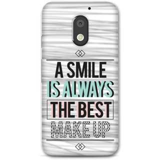 Moto E3 Power Designer Hard-Plastic Phone Cover From Print Opera -Smile Is Best Makeup