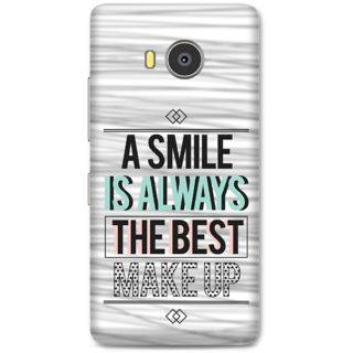 Lenovo A7700 Designer Hard-Plastic Phone Cover From Print Opera -Smile Is Best Makeup