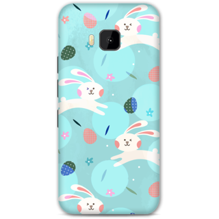 HTC One M9 Designer Hard-Plastic Phone Cover From Print Opera - Floral Rabbit