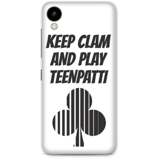 HTC 825 Designer Hard-Plastic Phone Cover From Print Opera -Keep Calm And Play Teenpatti