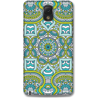 Samsung Galaxy Note 3 Designer Hard-Plastic Phone Cover From Print Opera -Graphic Blue Green Print