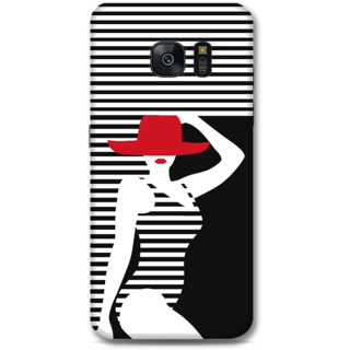 Samsung Galaxy S7 Edge Designer Hard-Plastic Phone Cover From Print Opera - Beach Girl