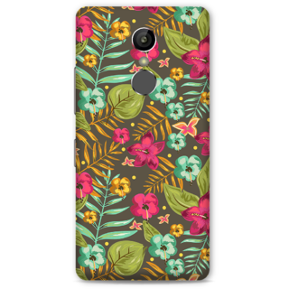 Gionee S6S Designer Hard-Plastic Phone Cover From Print Opera -Green Floral