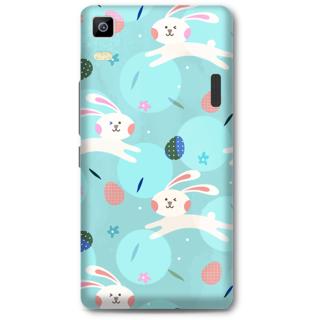 Lenovo K3 Note Designer Hard-Plastic Phone Cover From Print Opera - Floral Rabbit