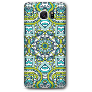 Samsung Galaxy Note 5 Designer Hard-Plastic Phone Cover From Print Opera -Graphic Blue Green Print