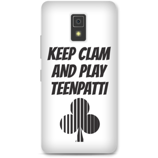 Lenovo A6600 Designer Hard-Plastic Phone Cover From Print Opera -Keep Calm And Play Teenpatti