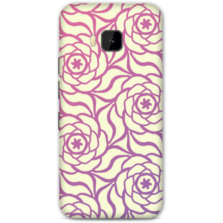 HTC One M9 Designer Hard-Plastic Phone Cover From Print Opera -Purple Floral