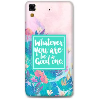 Micromax Yureka Designer Hard-Plastic Phone Cover From Print Opera - Be A Good One