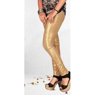 Lavanya Fashions Women's Churidar Leggings- Gold