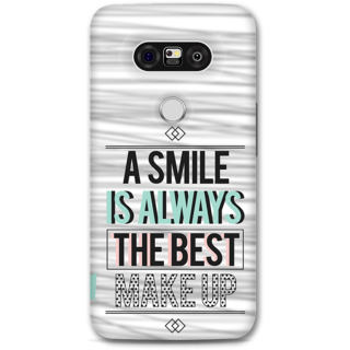 Lg G5 Designer Hard-Plastic Phone Cover From Print Opera - Smile Is Best Makeup