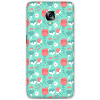 One Plus Three Designer Hard-Plastic Phone Cover From Print Opera - Flowers