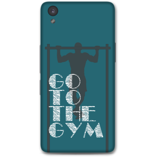 One Plus X Designer Hard-Plastic Phone Cover From Print Opera -Go To The Gym