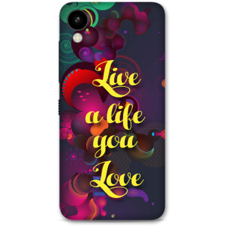 HTC 825 Designer Hard-Plastic Phone Cover From Print Opera -Live A Life You Love