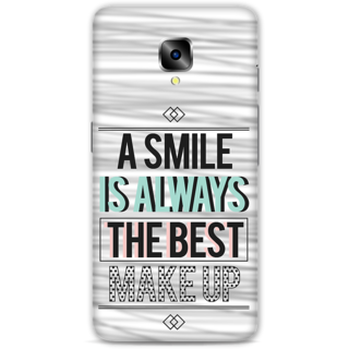One Plus Three Designer Hard-Plastic Phone Cover From Print Opera - Smile Is Best Makeup