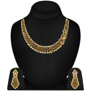 Jewels Gehna Party Wear Fashion Designer Unique Traditional Latest Necklace Set With Earring Set For Women  Girls