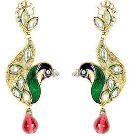 Spargz Peacock Designer Fashion Earrings Set