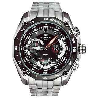 Casio Edifice 550 Black Dial Full Steel Mens Watch