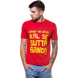 Enquotism Men's Multicolor Round Neck T-Shirt
