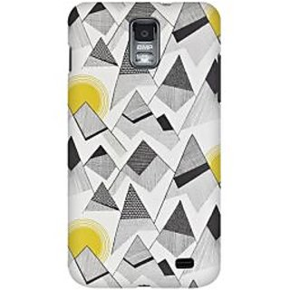 RAYITE Black And White Sketch Premium Printed Mobile Back Case Cover For Samsung S2