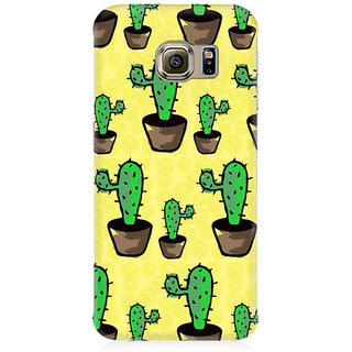 RAYITE Classic Cactus Pattern Premium Printed Mobile Back Case Cover For Samsung S6
