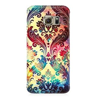 RAYITE Geometric Galaxy Premium Printed Mobile Back Case Cover For Samsung S6