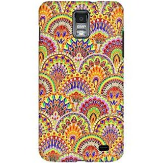 RAYITE Glow Mandala Pattern Premium Printed Mobile Back Case Cover For Samsung S2