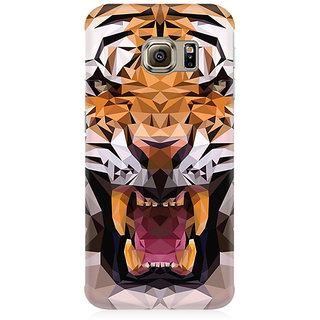 RAYITE Geometric Tiger Premium Printed Mobile Back Case Cover For Samsung S6 Edge G9250