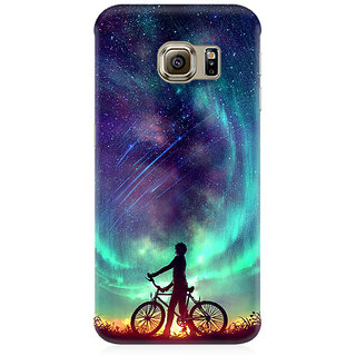RAYITE Dream On Galaxy Premium Printed Mobile Back Case Cover For Samsung S7