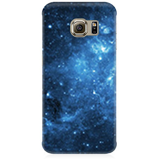 RAYITE Blue Galaxy Premium Printed Mobile Back Case Cover For Samsung S6