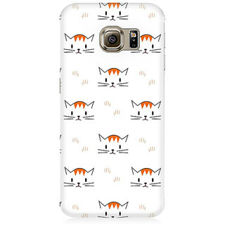 RAYITE Kitty Pattern Premium Printed Mobile Back Case Cover For Samsung S6