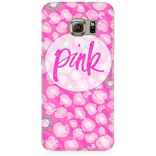 RAYITE Pink Premium Printed Mobile Back Case Cover For Samsung S7 Edge
