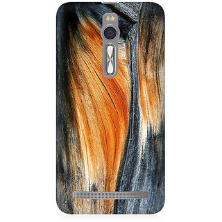 RAYITE Classic Wood Premium Printed Mobile Back Case Cover For Asus Zenfone 2