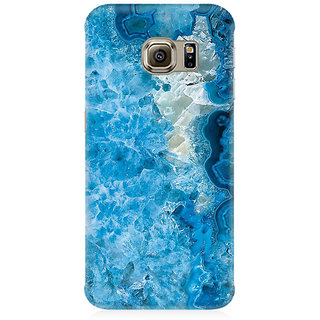 RAYITE Ice Blue Marble Premium Printed Mobile Back Case Cover For Samsung S6 Edge Plus