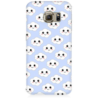 RAYITE Cute Cloud Pattern Premium Printed Mobile Back Case Cover For Samsung S6 Edge G9250