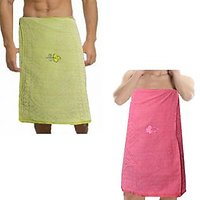 Sweet Home Combo Pack Of 2 Men & Women Cotton Bath Towel-p&b