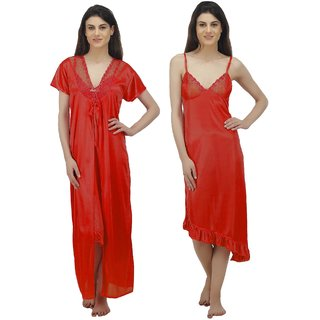 116d8d35b5 Buy Arlopa 2 Pieces Nightwear in Satin Robe With Nighty Online - Get ...