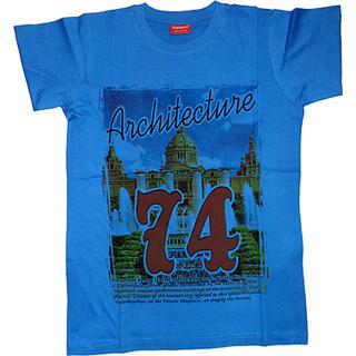 Graphic blue Printed T-Shirt