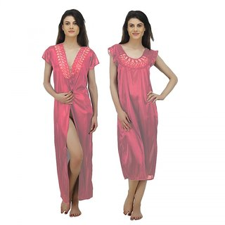 f6b146a95c Buy Arlopa 2 Pieces Nightwear Robe and Nighty In Satin Online - Get ...