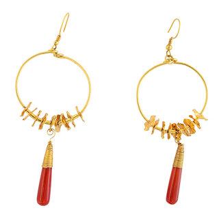 Sparkling Drop Jaipur Handcrafted Designer Brass Earrings