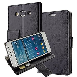 G530H, Grand Prime G530H Case,Samsung Galaxy Grand Prime G530H/DS Cover Aomax Wallet Card Slot View Stand Premium Protective Leather Cover Case+ HD Screen ...