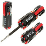 8-IN-1 SCREWDRIVERS TOOLKIT WITH 6-LED FLASHLIGHT