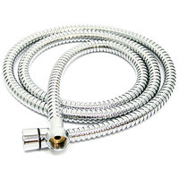 1 Mtr Steel Tube Shower Hose With Brass Nut