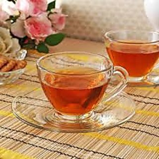 Ocean Glassware - Cosmo Tea Set - 6 Cups And 6 Saucers(Cup - 230 Ml Each)