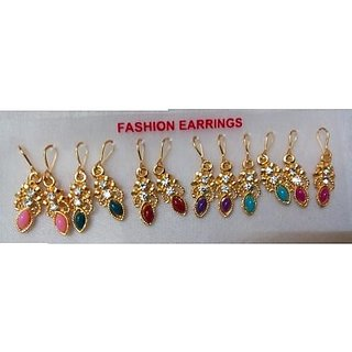 revin color  stone earrings