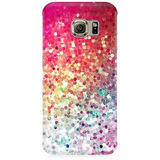 RAYITE Glitter Print Premium Printed Mobile Back Case Cover For Samsung S6 Edge Plus
