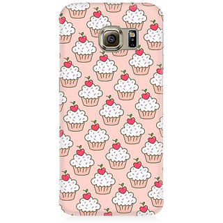 RAYITE Cakes Pattern Premium Printed Mobile Back Case Cover For Samsung S7